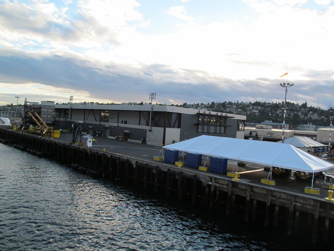 Arriving at Seattle Cruise Terminal