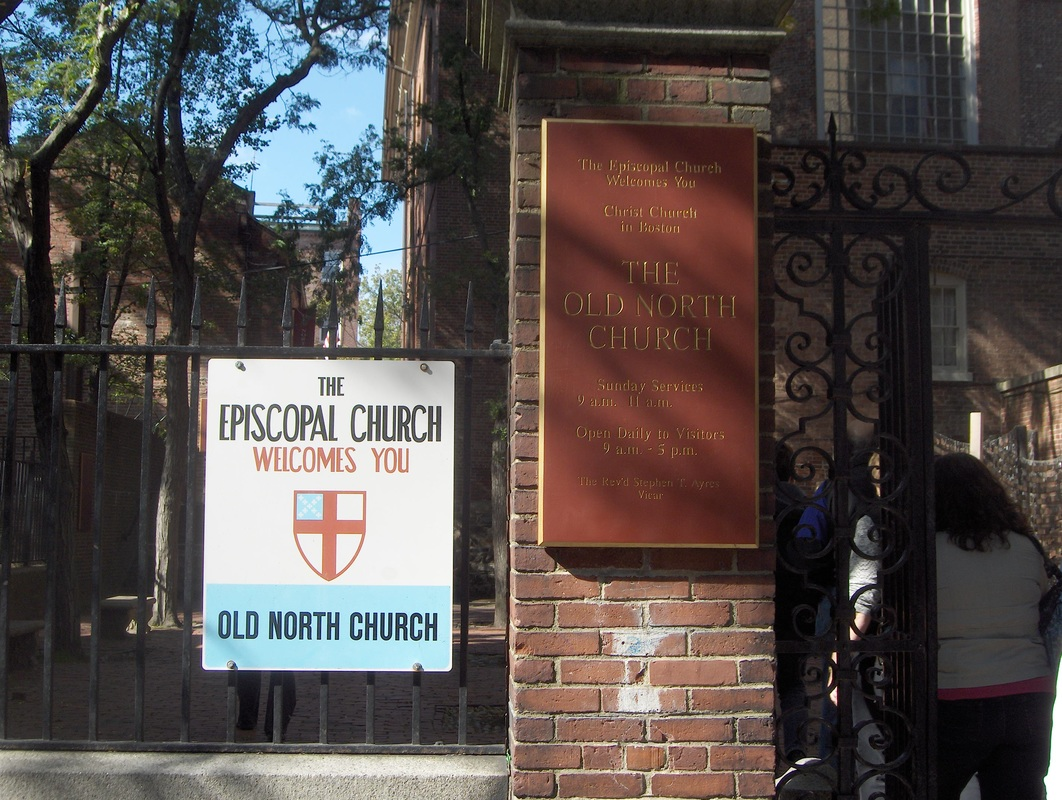 Sign outside The Old North Church