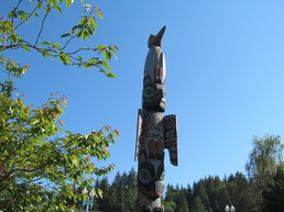 Big Totem Pole in Ketchikan Alaska