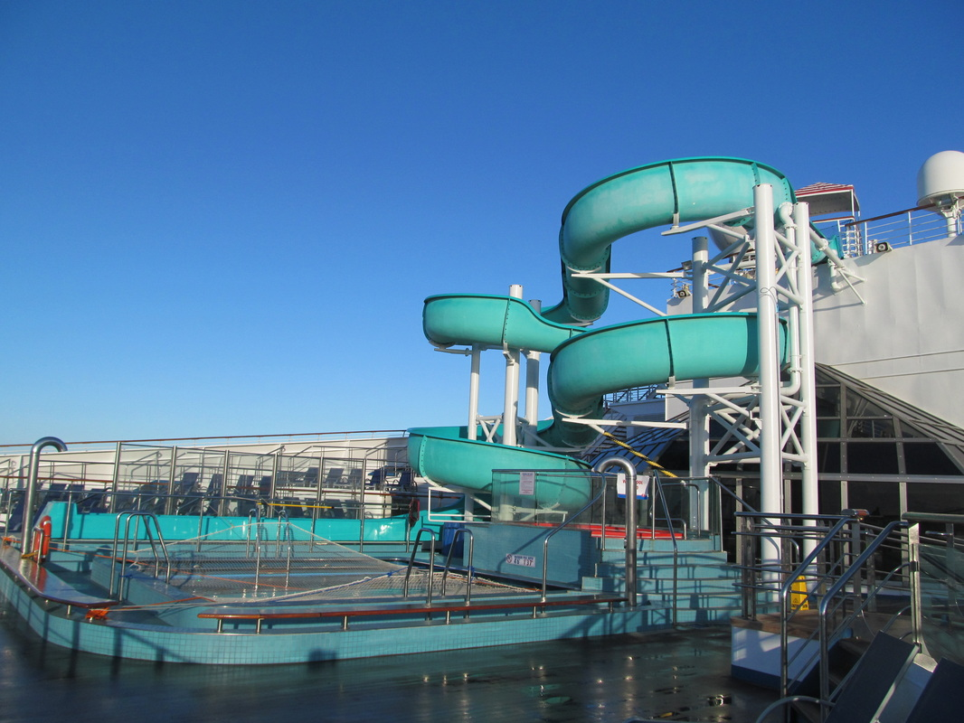 Side View of Pool & Waterslide