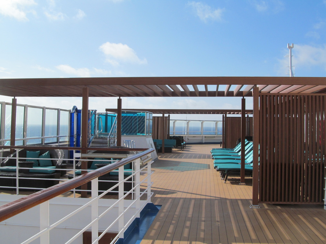 Chairs on the Carnival Dream's Serenity Deck