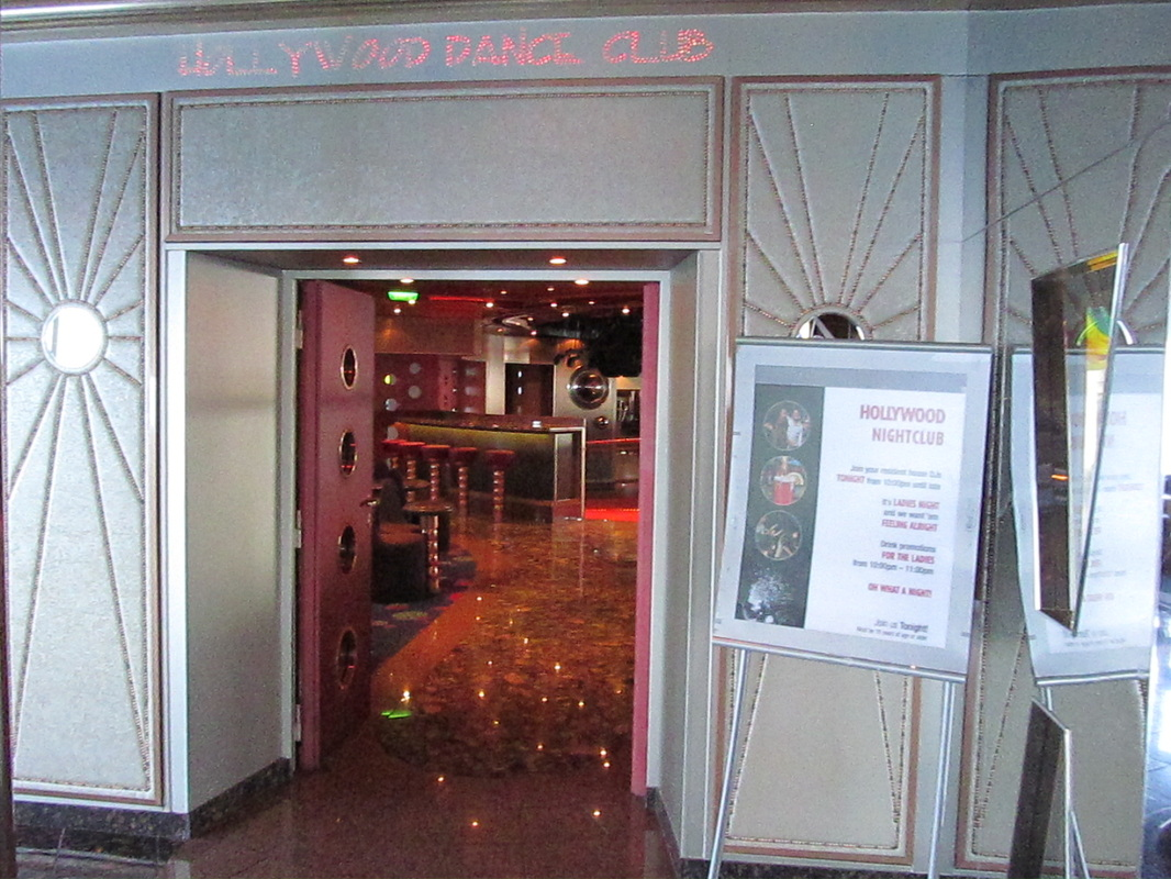 Hollywood Disco Entrance on Carnival Triumph