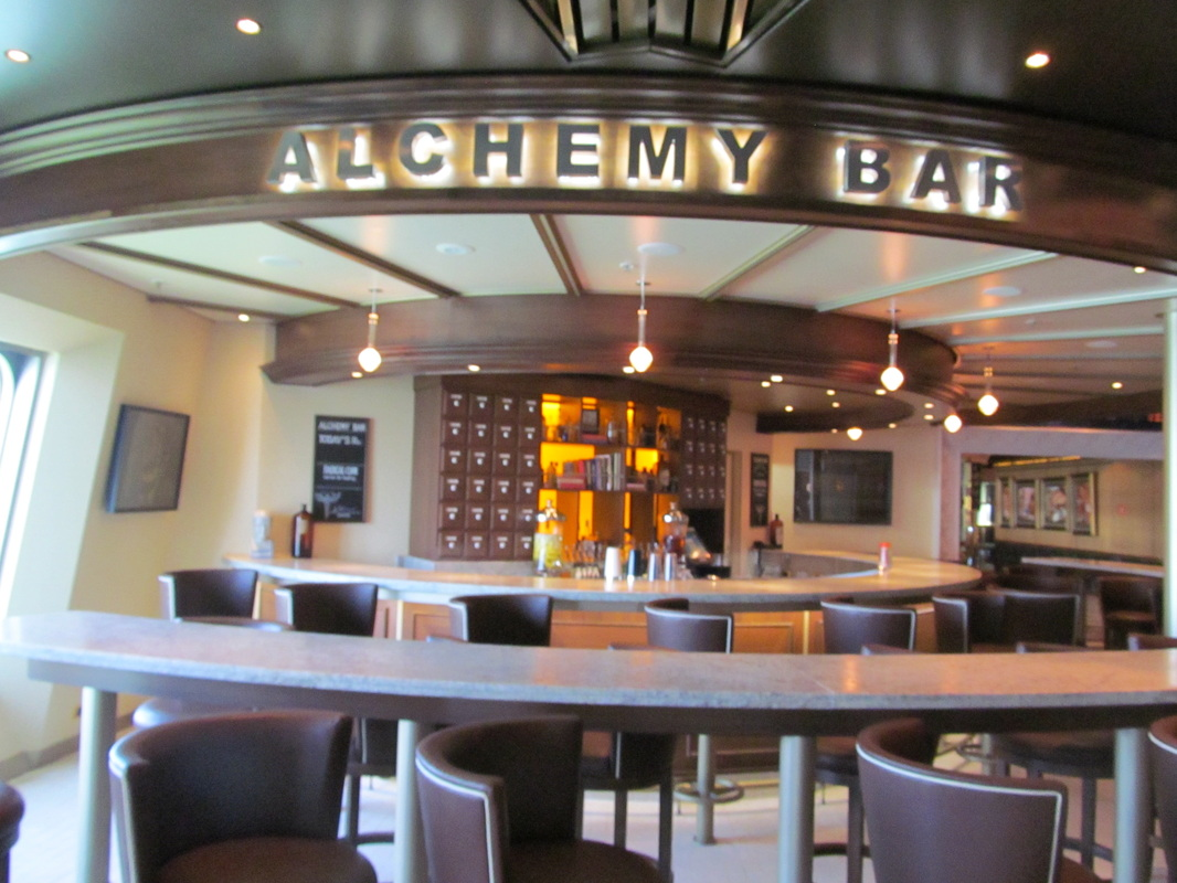 Carnival Triumph Front View of Alchemy Bar