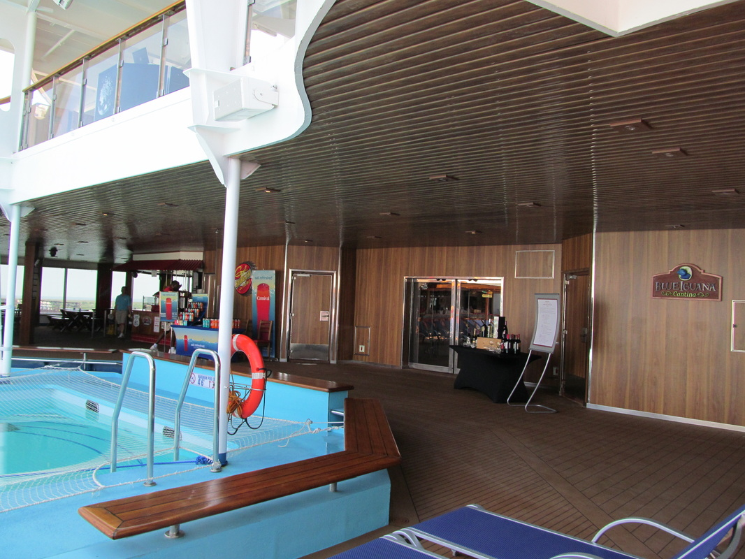Main Pool Area and Doors to Stairwell