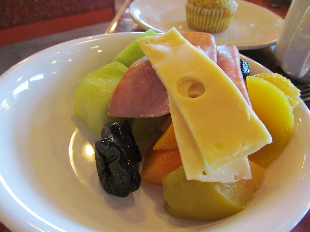 Assorted Fruits, Cheeses, and Meats