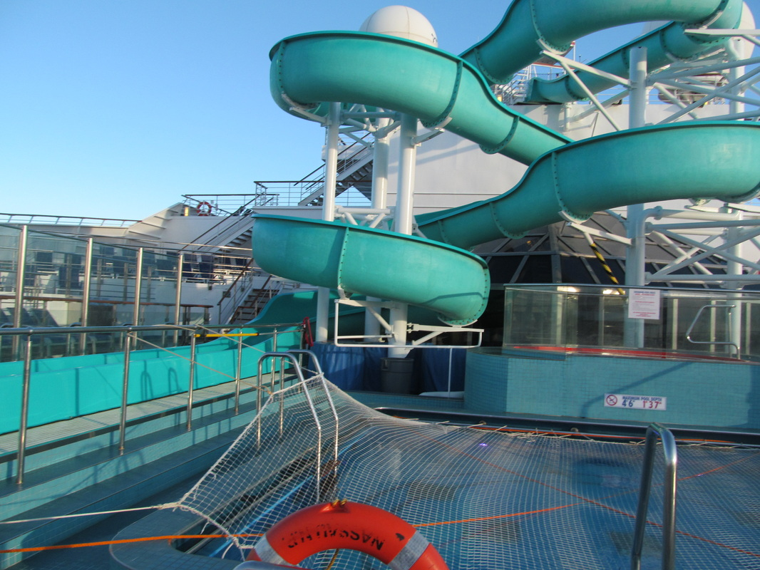 A Pool & the waterslide