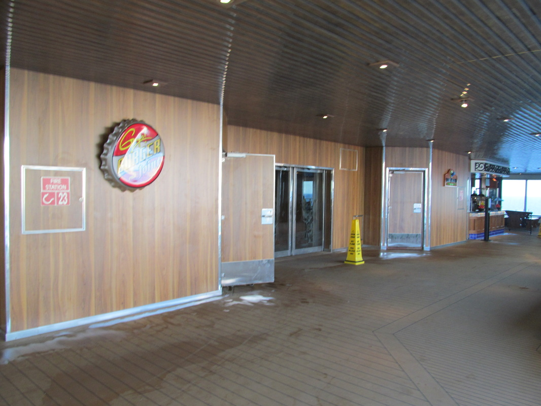 Entrance to Mid Ship Elevators