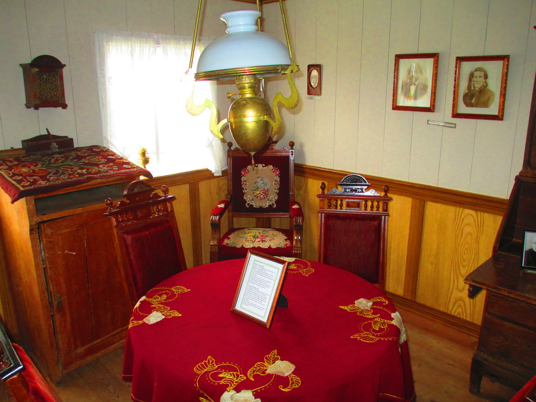 Parlor with Icelandic artifacts