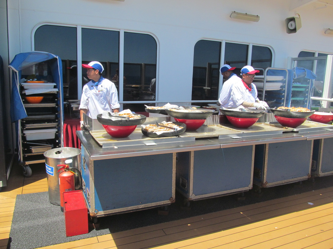 Carnival Dream Lanai BBQ Serving Station