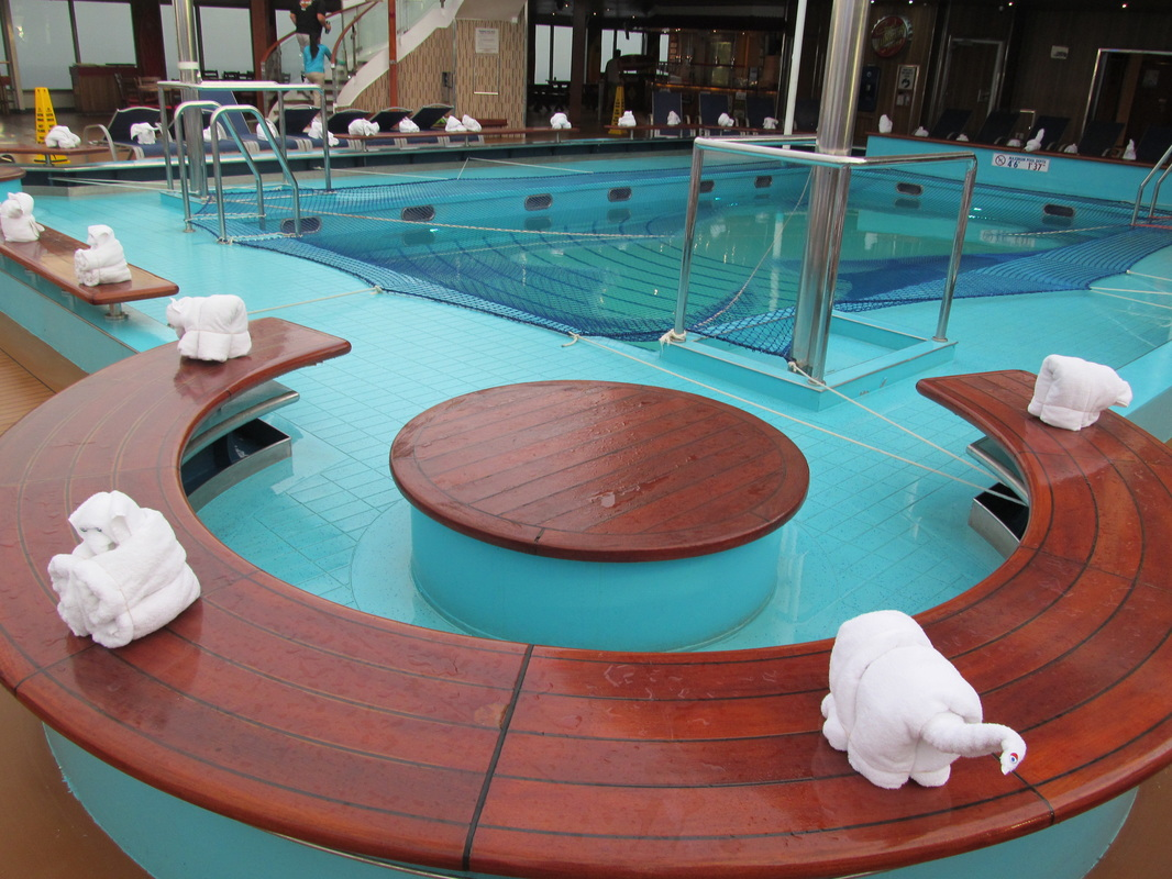 Carnival Triumph Main Pool Lined With Towel Animals
