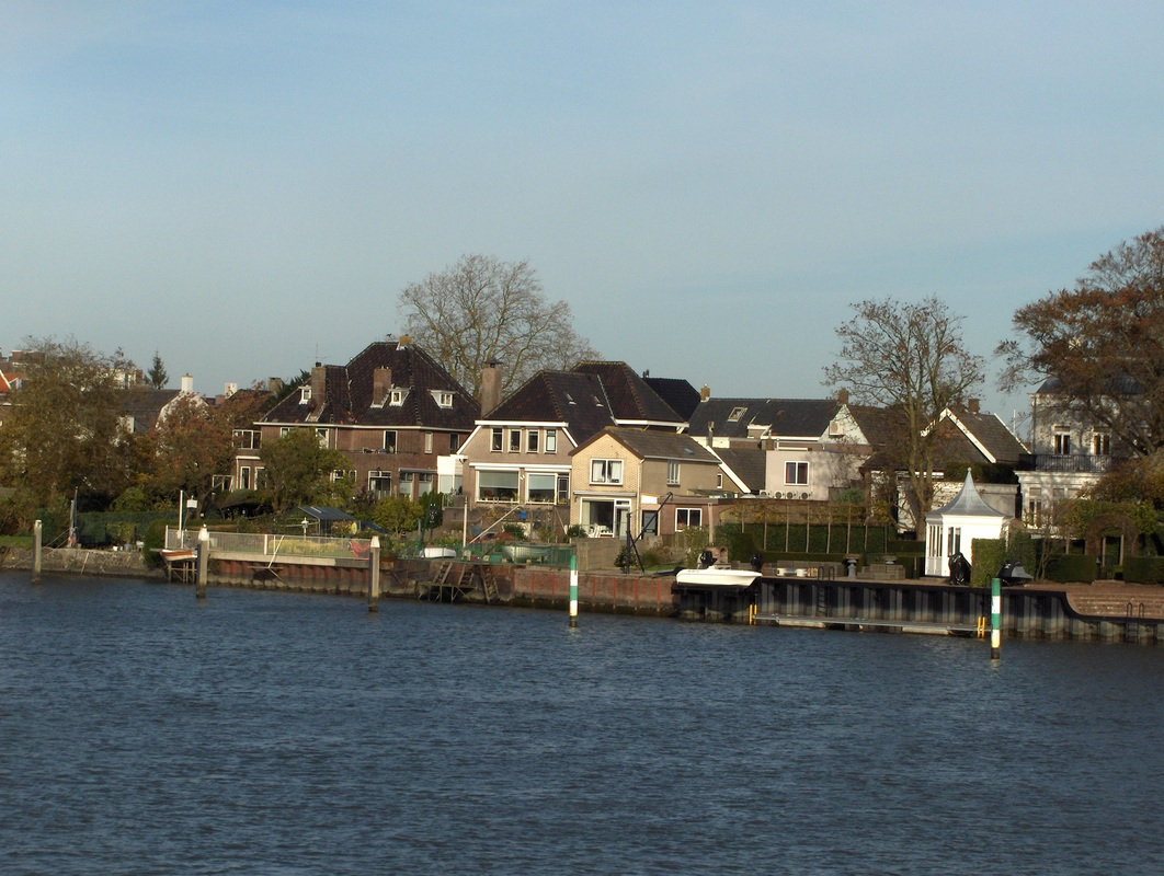 More homes along the banks of the river