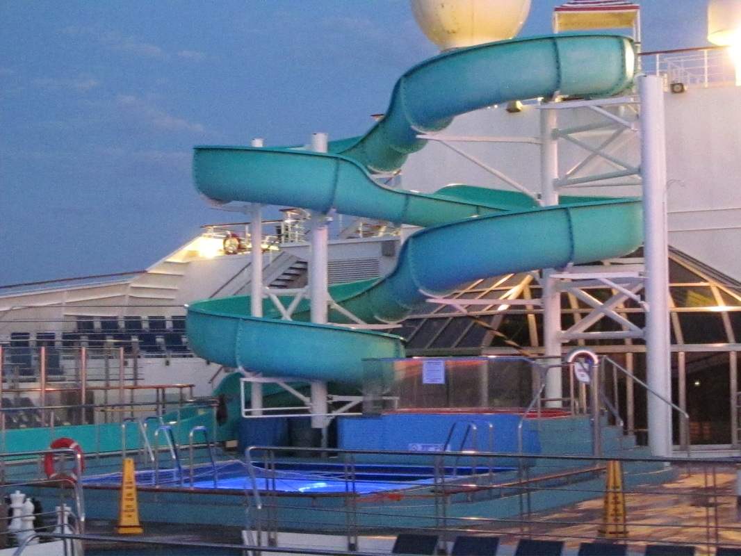 Waterslide and Pool on Panorama Deck