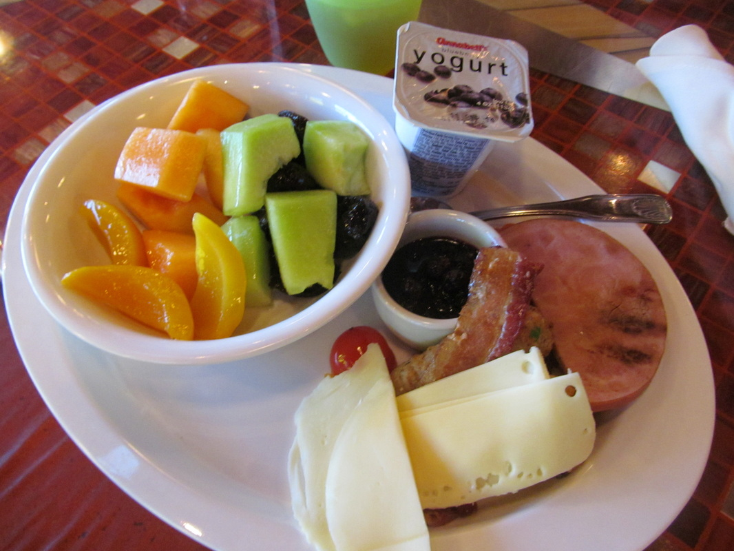 Fruit, Cheese, & Ham at Carnival Dream Breakfast
