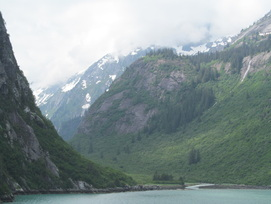 Mountains in Tracy Arm Fjord