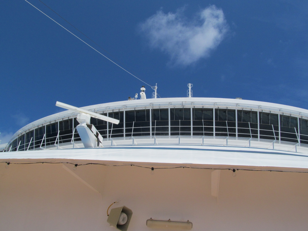 Carnival Dream - Looking Up Towards The Navigational Bridge