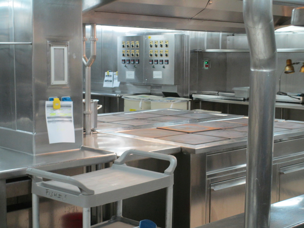 Very clean galley