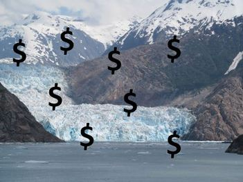 Tracy Arm Fjord With Dollar Signs