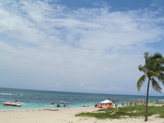 Beach in Freeport, Bahamas