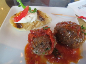 Meatballs on a Plate With Other Food