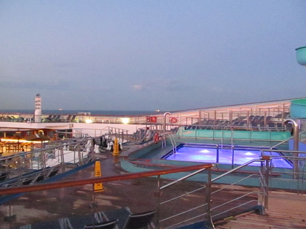 Pool area on Panorama Deck