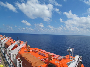 Lifeboats On A Cruise Ship