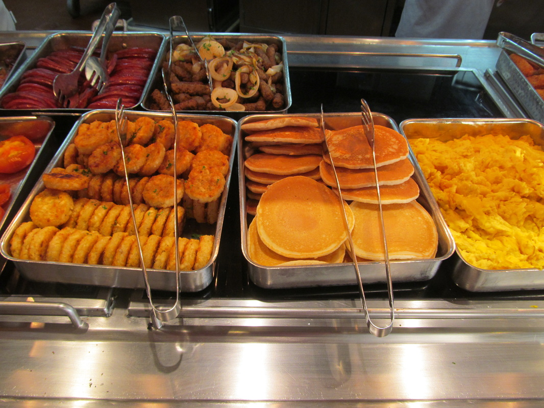 Carnival Elation General Breakfast Buffet Line