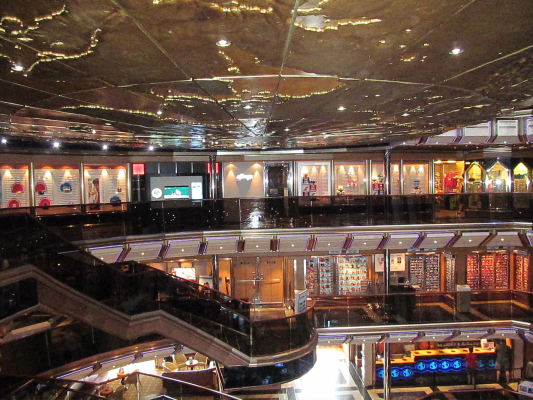 Ship's Atrium Looking Towards Port Side