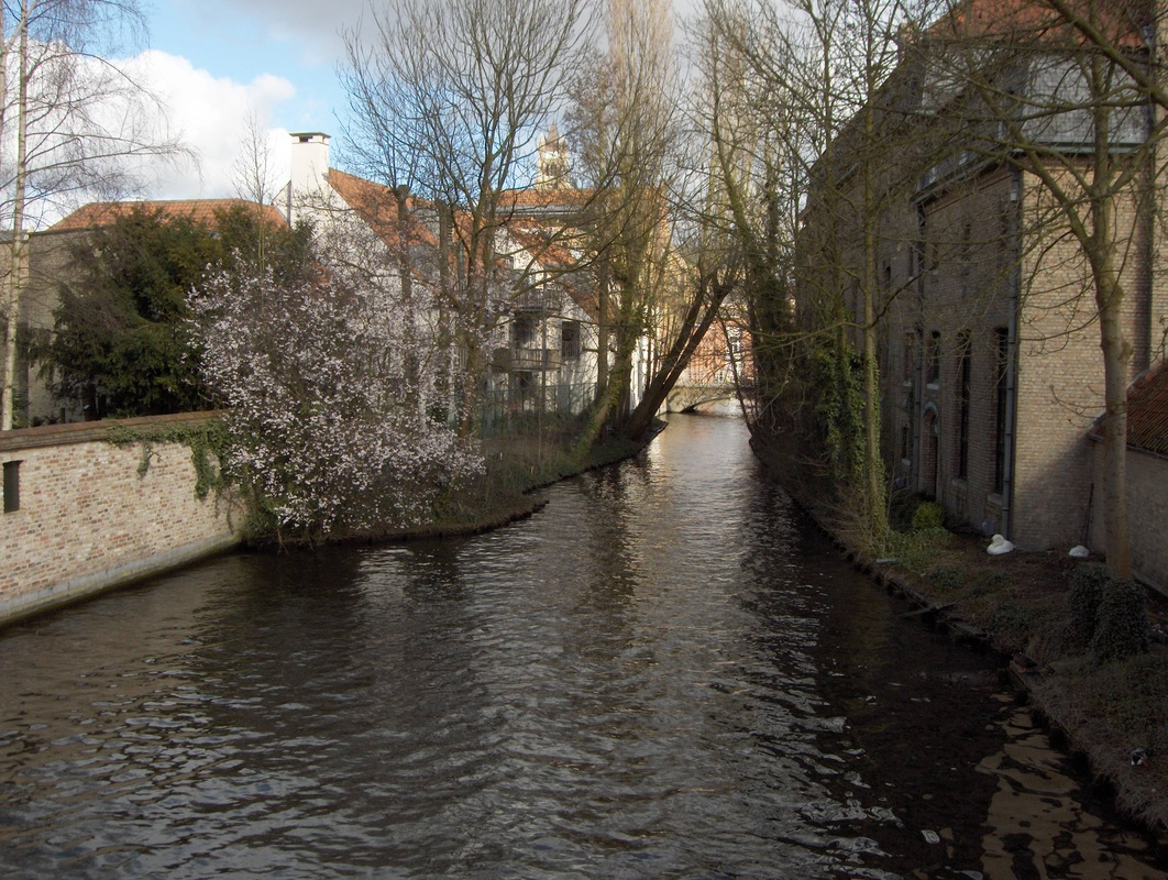 One of the canals crossed on a walking tour