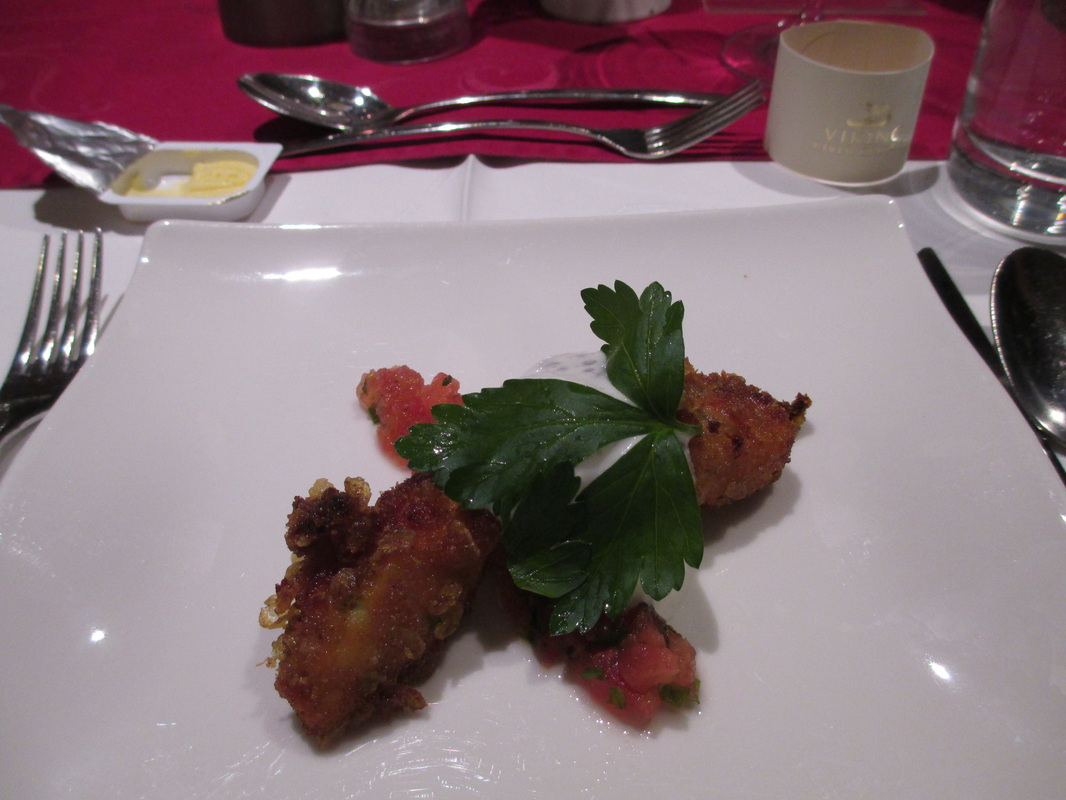 1st course - Appetizers - either Crisp Tandoori chicken
