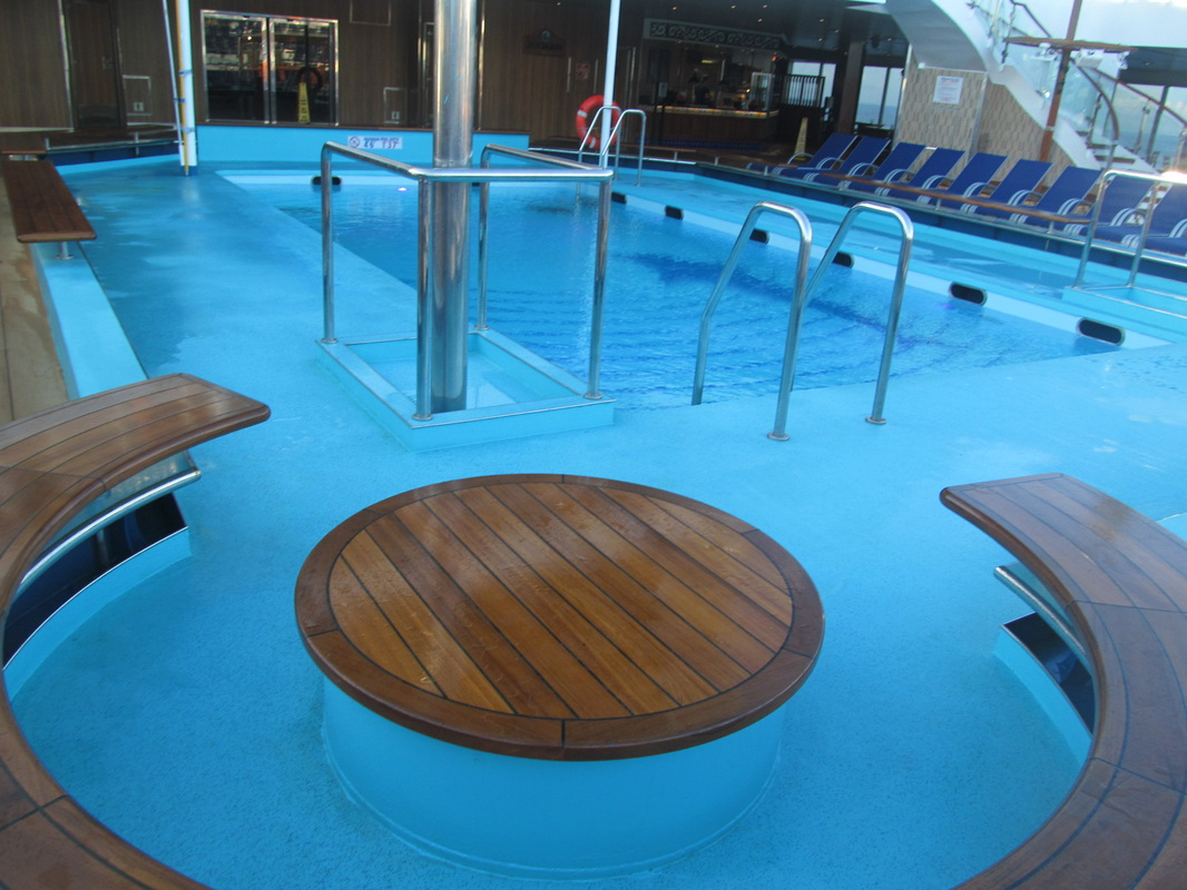Main Pool Area on Carnival Triumph