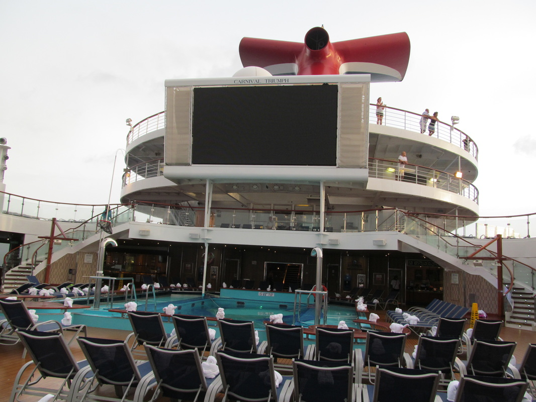 Carnival Triumph Lido Deck Filled With Towel Animals