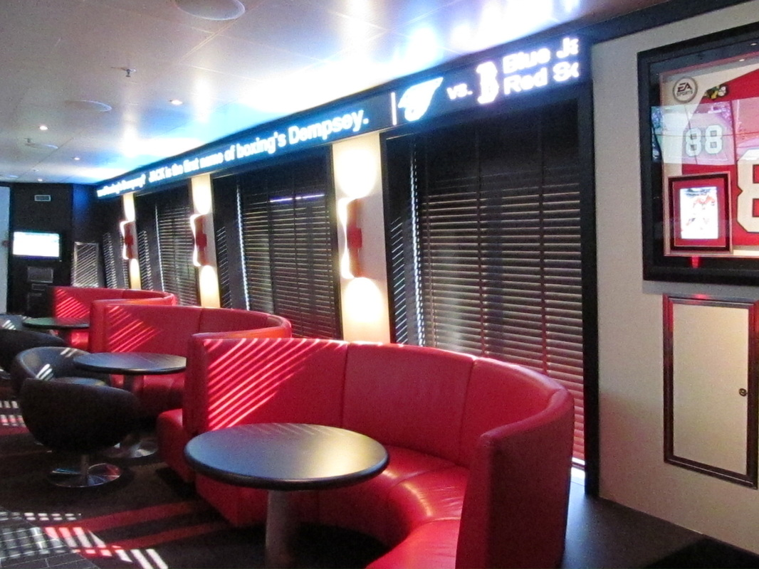 Booths in EA Sports Bar