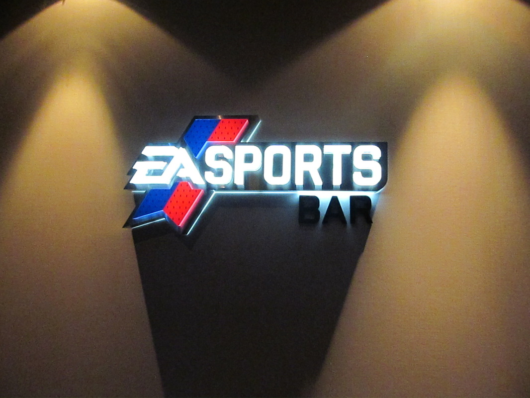 EA Sports Bar Logo outside of Bar