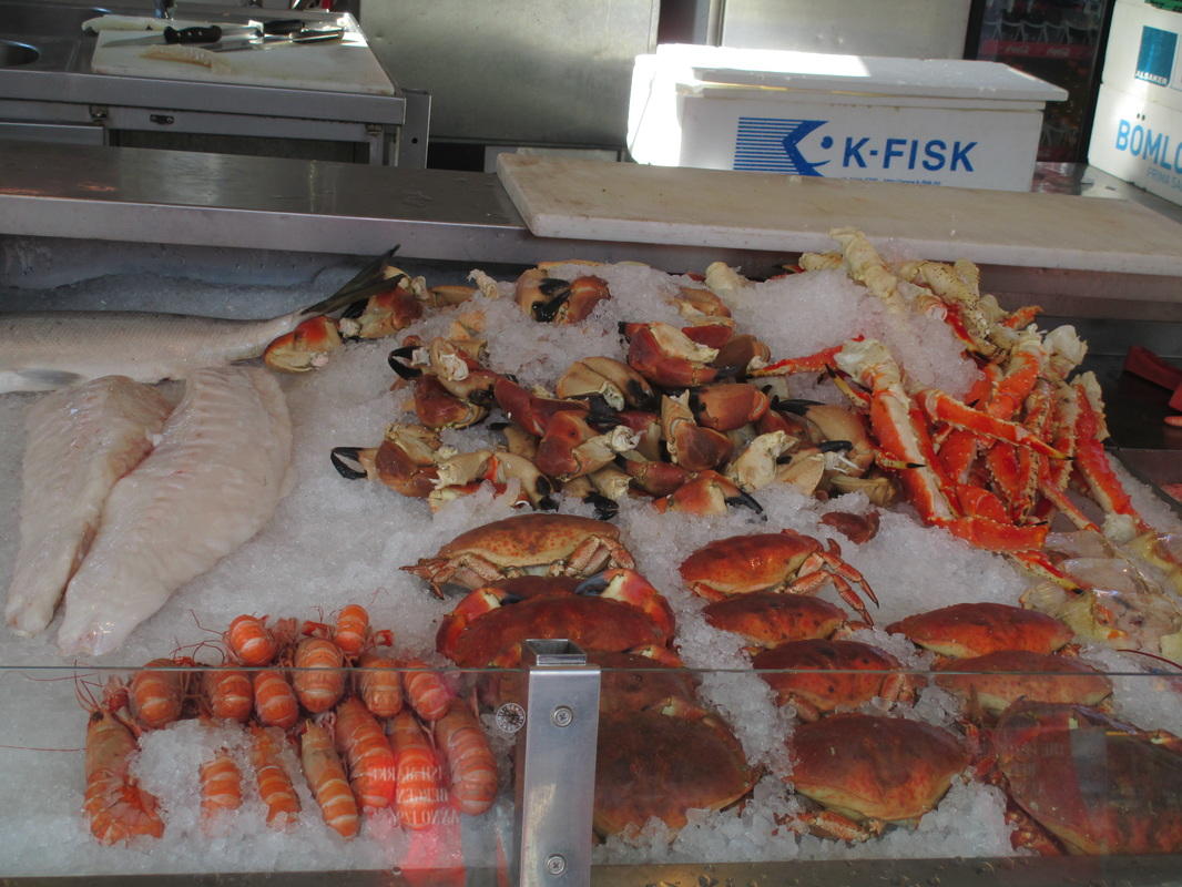 A wide variety of seafood