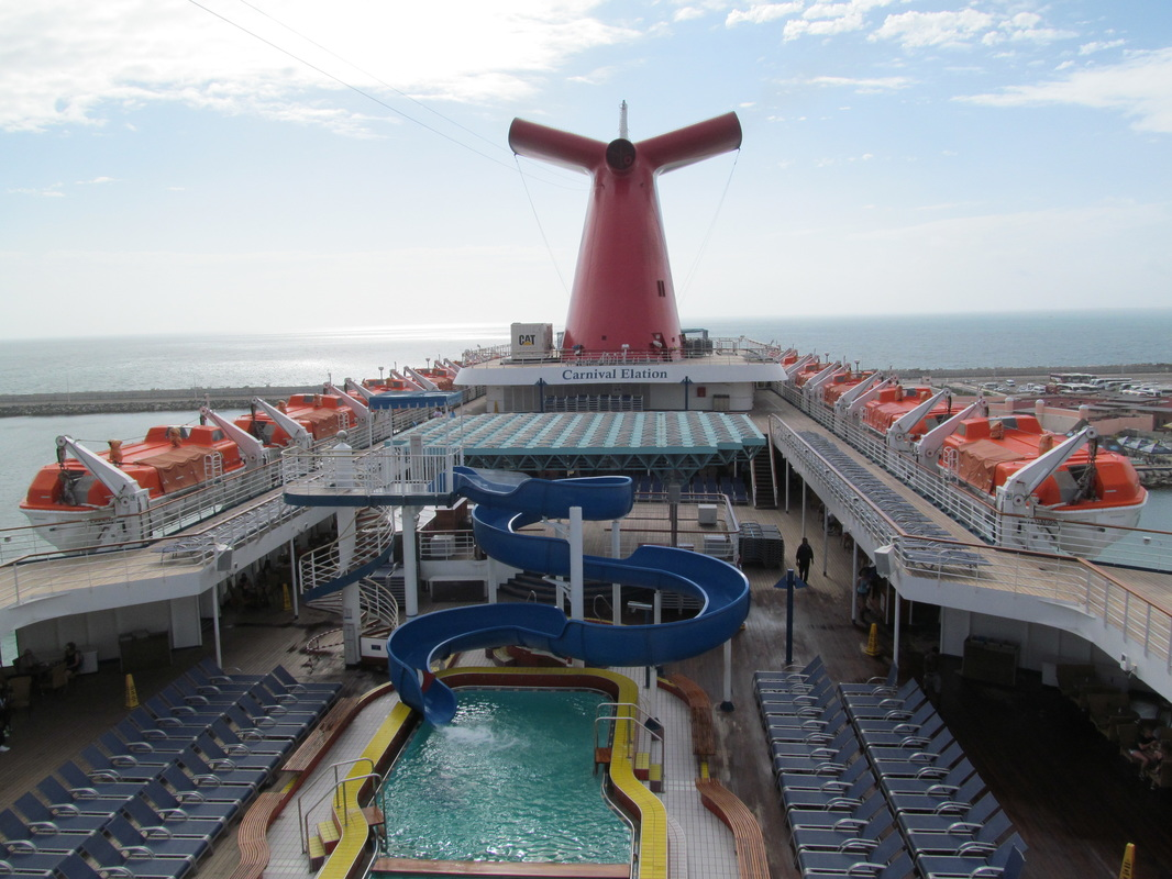 Carnival Elation Pool Area