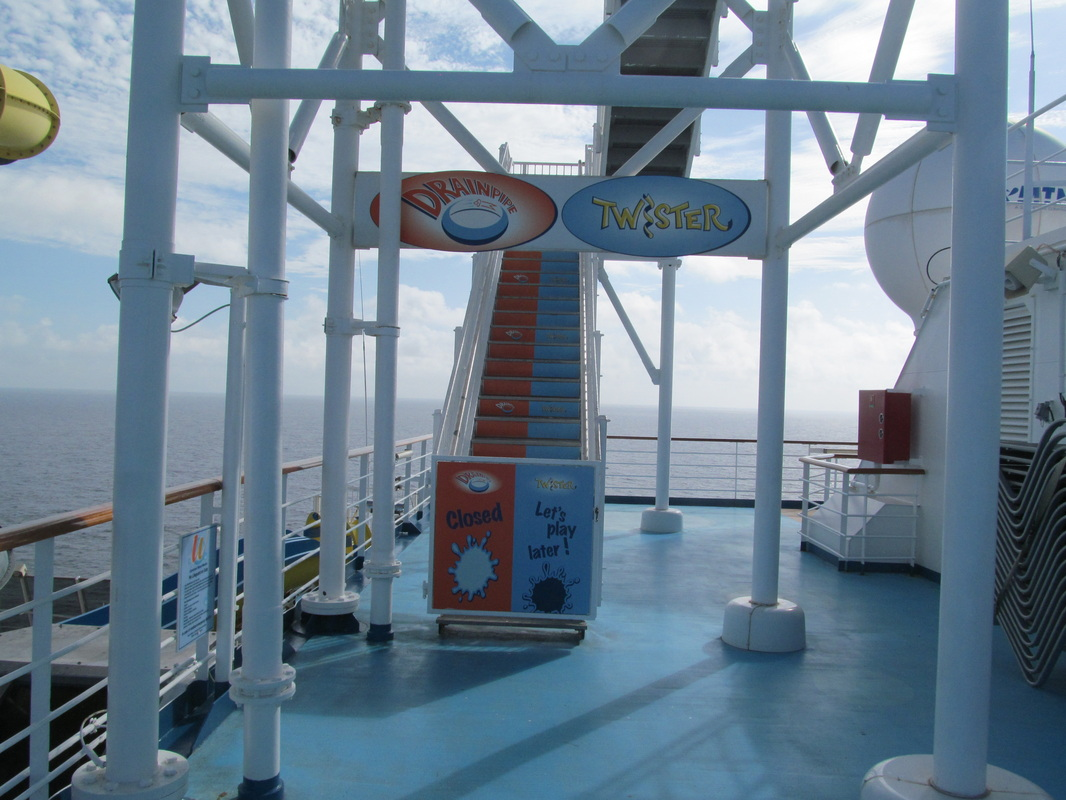 Entrance to Carnival Dream's Waterslides