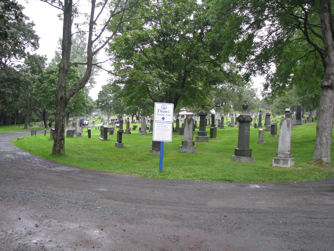 Fairview Cemetery where 121 victims of the Titanic are buried