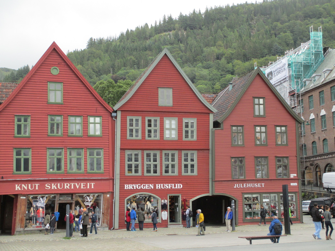 Wooden buildings from days of Hanseatic League