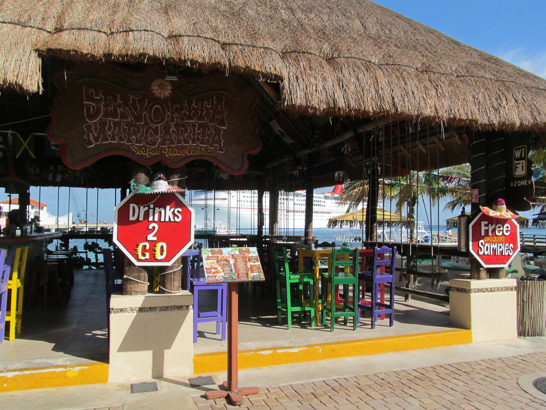 Bars at Puerta Maya Pier