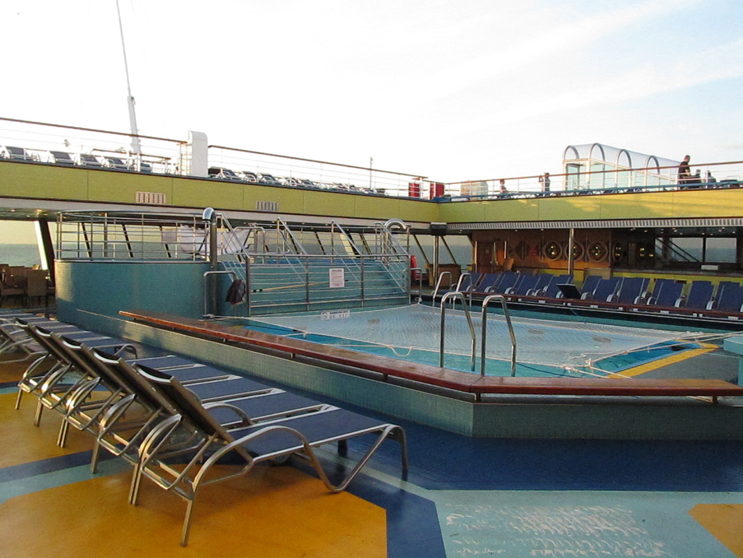 Aft Pool on Carnival Triumph - Looking Port Side