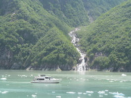 Tracy Arm Fjord Waterfall