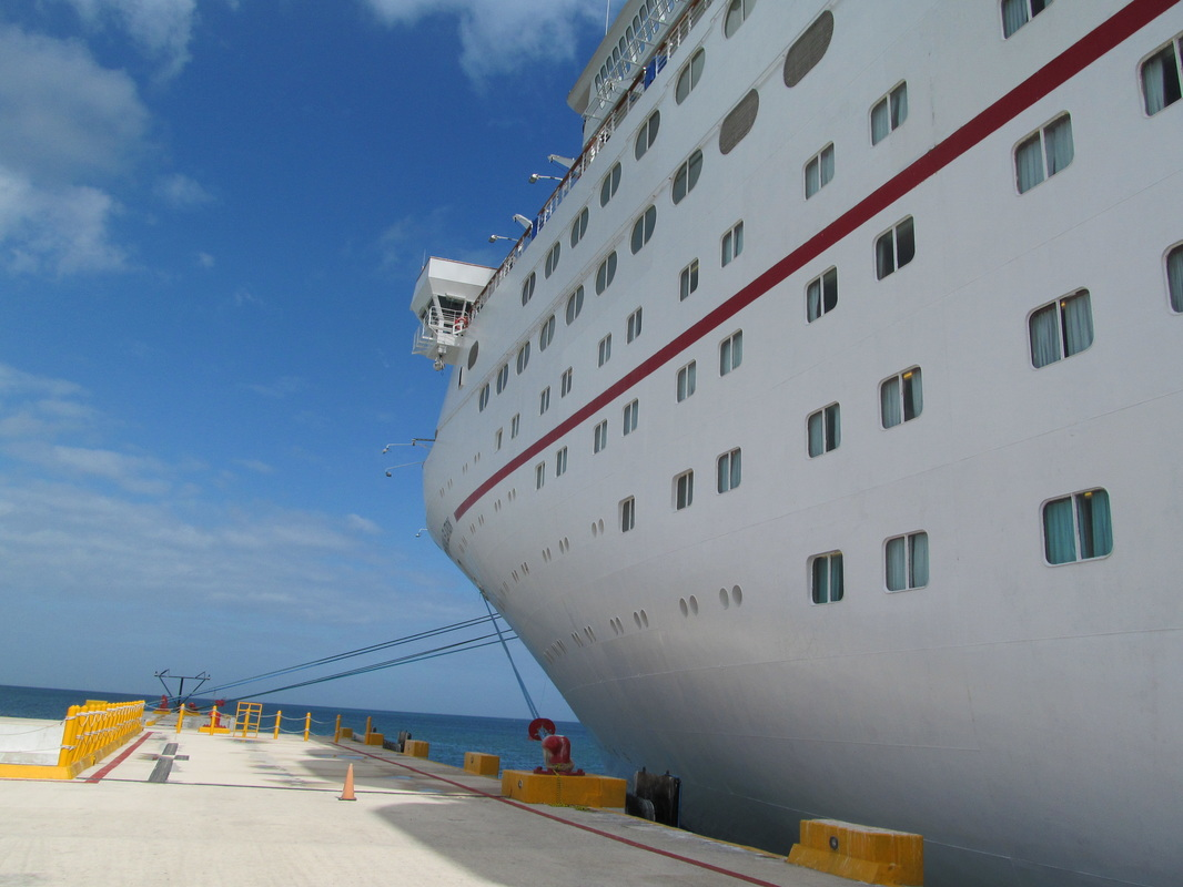 Carnival Elation Docked in Progreso