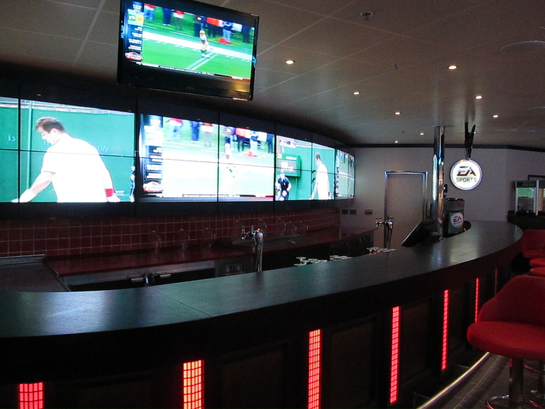 TV Screens in EA Sports Bar