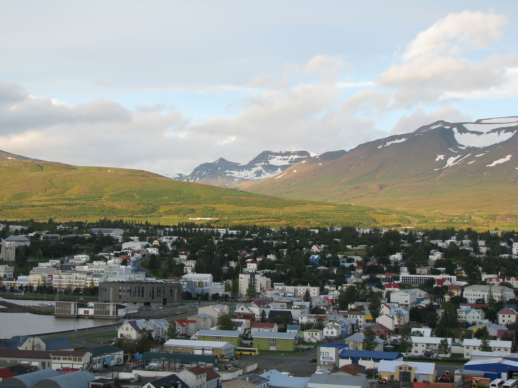View of Akureyri from the ship