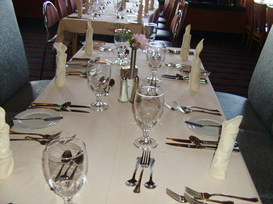 Table Setting in Main Dining Room