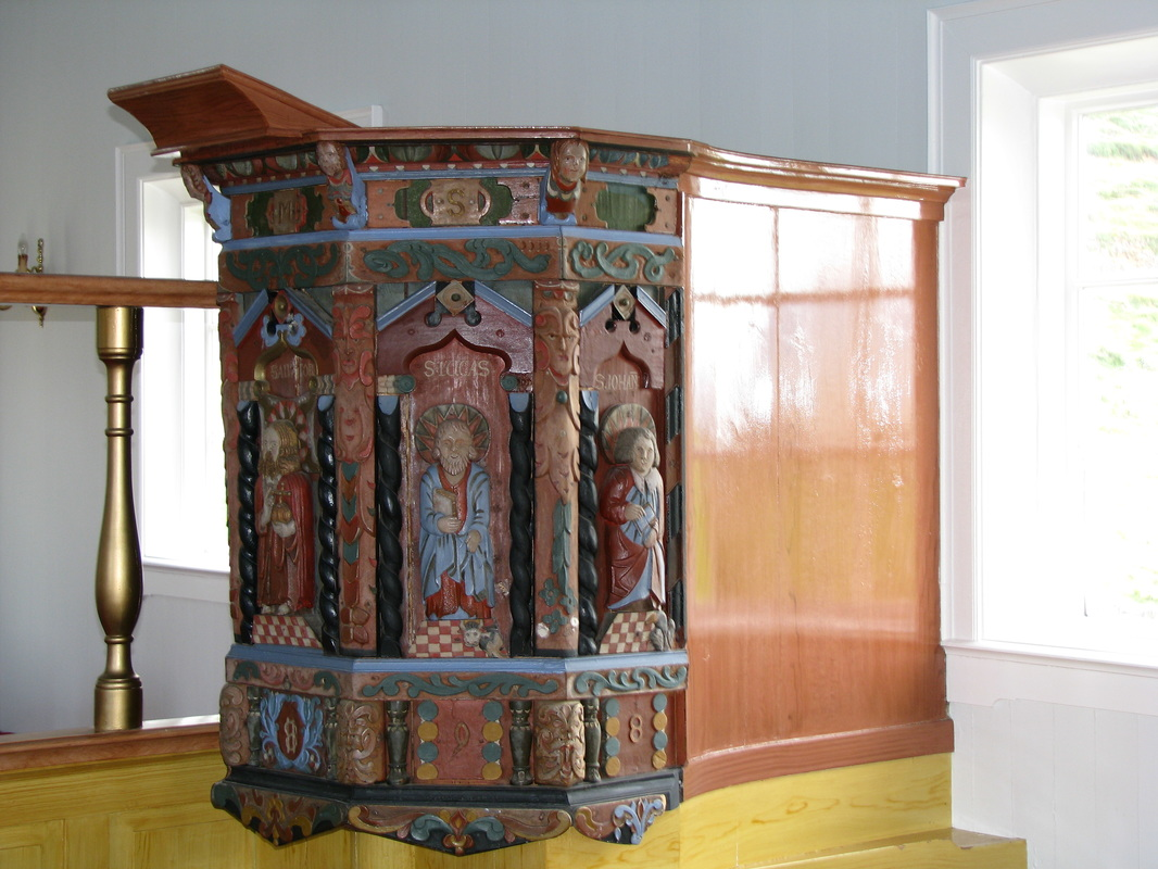 Pulpit from 1698