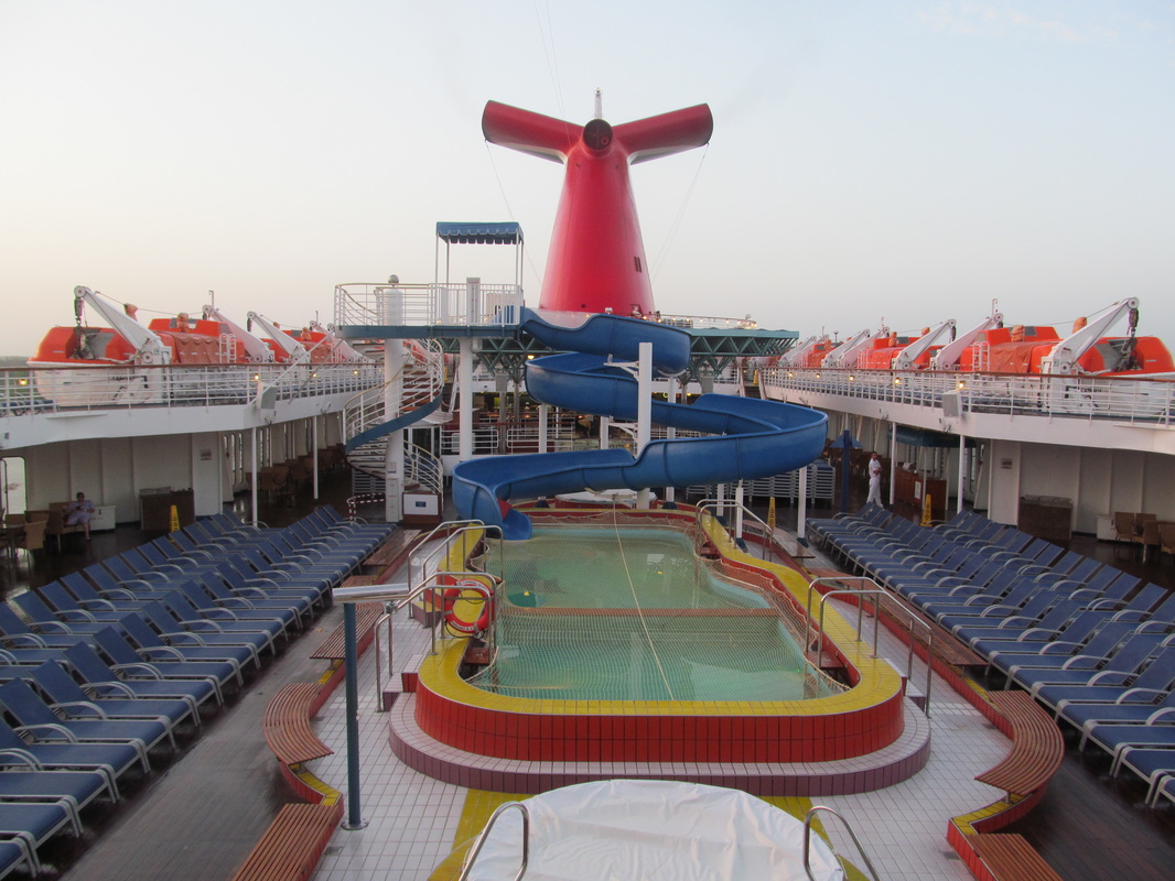Carnival Elation Lido Pool Area