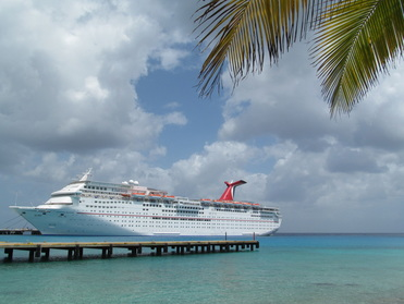 Carnival Elation Docked in Cozumel