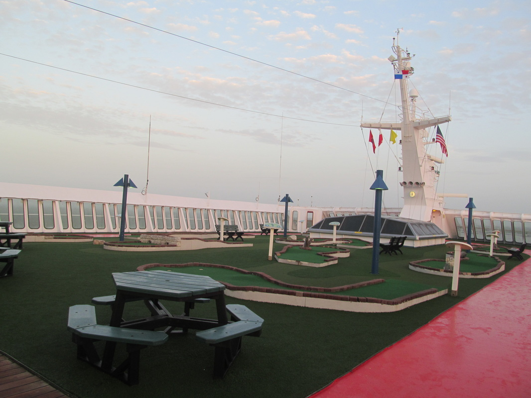 Mini Golf Course on the Carnival Elation