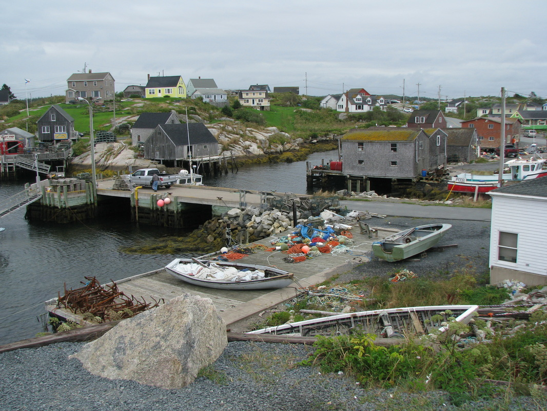 Quaint fishing village at Peggy's Cove